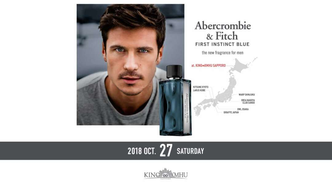 Abercrombie & Fitch FIRST INSTINCT BLUE the new fragrance TIE UP TOUR